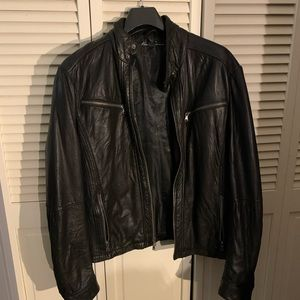 Kenneth Cole New York Men's Leather Moto Jacket M
